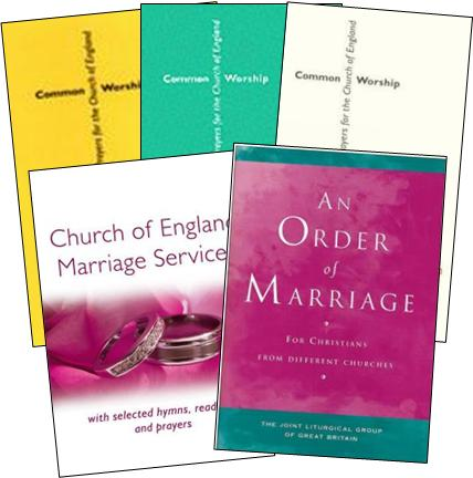 Marriage service booklets